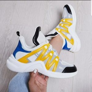Shoes - White Arch Dad Sneakers